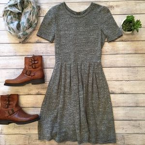 Madewell Sweatshirt Dress gray size XS